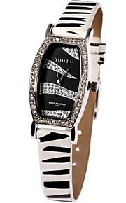 Mulheres Relógio de Moda Quartzo Couro Banda Branco Marrom