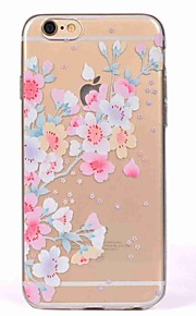 Case for iPhone 7 7 Plus Cover Translucent Pattern Back Cover Case Cherry Blossom Soft TPU for iPhone 6s Plus 6 5S 5 SE