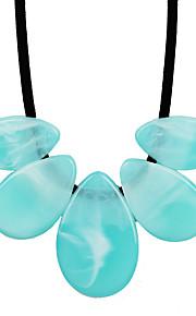 Dame Halskædevedhæng Imiteret Diamant Oval form Det onde øje Plastik LegeringUnikt design Hjerte Cirkel Mode Boheme Stil Personaliseret