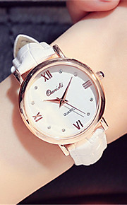 Mulheres Relógio de Moda Relógio de Pulso Quartzo Couro Banda Preta Branco Rosa