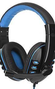 Fone de ouvido para jogos portáteis com microfone super estéreo estéreo fone de ouvido com fone de ouvido com fio para gamer de computador