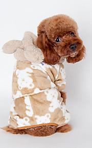 Hund Pyjamas Hundekleidung Lässig/Alltäglich Tier Schwarz Kaffee Rosa