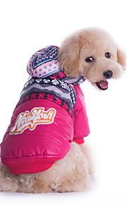 Hund Kapuzenshirts Hundekleidung Lässig/Alltäglich Geometrisch Fuchsia Blau