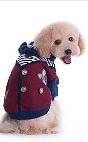 Hund Mäntel Hundekleidung Lässig/Alltäglich Britisch Grau Rot