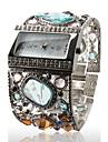 Женские часы-браслет с драгоценными камнями