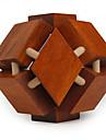 Wooden IQ Brain Teasr Polyhedron Lock IQ Puzzle Magic Cube