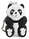 Panda Schluesselanhaenger mit LED-Taschenlampe und Sound-Effekte (schwarz)