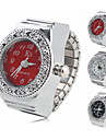 Женские Модные часы Кварцевый сплав Группа Блестящие Серебристый металл