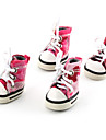 Dog Shoes & Boots Cowboy / Fashion Spring/Fall Camouflage Pink PU Leather