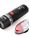Luci bici , Illuminazione anteriore / Luci di coda / kit luce frontale luce + coda - 3 Modo Lumens AAA Batteria Ciclismo/BiciclettaNero /