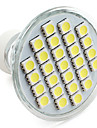 4W GU10 LED-spotlights MR16 27 SMD 5050 300 lm Naturlig vit V