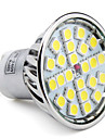 4W GU10 Lampadas de Foco de LED MR16 24 SMD 5050 280 lm Branco Natural AC 85-265 V