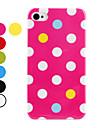 Etui Rigide à Pois pour iPhone 4/4S - Couleurs Assorties
