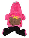 Bear Prince Sherpa Hoodie with Pants Suit for Dogs (XS-XL,Pink)