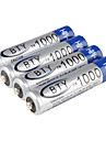 4 pcs BTY Ni-MH AAA Rechargeable Battery (1.2v, 1000 mAh)