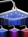 "Pommeau de Douche Carre 8"" 12 LED - Assortiment de Couleurs"