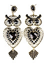 Owl Shape Wreath Resin Earrings