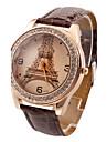Women\'s Watch Luxury Diamond Eiffel Tower PU Band Strap Watch Cool Watches Unique Watches Fashion Watch
