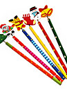 크리스마스 편지지 다채로운 나무 연필 (임의 색상)