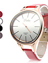 Unisex Simple Elegant Style PU Analog Quartz Wrist Watch (Assorted Colors)