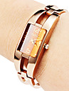 Frauen Hollow Stil Legierung Analog Quarz Armband Watch (Bronze)
