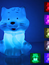 Laughing Cat muotoinen värikäs LED Night Light (3xAG13)