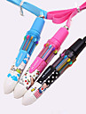 Cartoon Pattern 10 Colors Automatic Ballpoint Pen (Random Color)