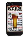 étui rigide de protection de style de bière pour iphone 5/5s