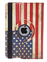 Drehbarer Design Retro US-Flagge Pattern PU Leather Case mit Staender fuer iPad Mini