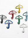 Umbrella Style Colorful Paper Clips (Random Color, 10-Pack)