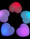 corazon en forma de dulce de color llevado luz de la noche (3xag13)