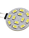 1.5W G4 LED Spotlight 12 SMD 5730 200 lm Natural White DC 12 V