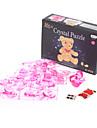 Bear 3D Crystal Puzzle (41pcs, Model:9016, Pink)