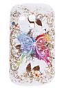 Butterfly Mønster Blød Taske til Samsung Galaxy S3 Mini I8910