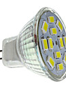 6W GU4(MR11) Focos LED MR11 12 SMD 5730 570 lm Blanco Natural DC 12 V