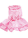 Dog Dress Pink Dog Clothes Spring/Fall Solid Wedding