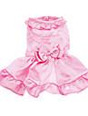 Caes Vestidos Rosa Roupas para Caes Primavera/Outono Cor Unica Casamento