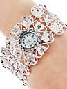 Женские Модные часы Наручные часы Часы-браслет Японский кварц Кварцевый Группа Элегантные часы Серебристый металл