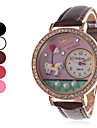 Femme Montre Decontractee Quartz Bande Montres avec Paroles Noir Blanc Rouge Marron Rouge Rose Blanc Noir Rouge Rose Marron Rouge