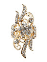 Flor en forma de anillo ajustable Diamond