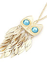 Eruner®Gold Plated Alloy Zircon Owl Pattern Necklace