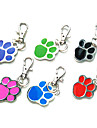 Dog tags Fashionable Footprint Pattern Metal Pet Tag for Dogs - 1 PC/PACK(3.5cm,Random Colors)
