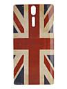 소니 Xperia S LT26i를위한 레트로 스타일 영국 깃발 본 단단한 케이스