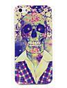 Capa Com Padrão de Caveira para iPhone 5/5S