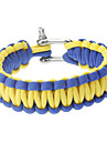 Stylish Survival Glowing-in-the-dark Paracord Bracelet with Stainless Steel Buckle(Blue&Yellow)