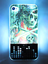 LED Cellphone Flash 3D Skull Pirate Pattern Hard Case for iPhone 4/4S (Multi-color)
