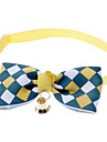 Plaid Pattern Tiny Adjustable Bow Tie for Dogs Cats (Fit for Neck: 16-30cm/6.3-11.8inch,Assorted Color)
