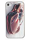 Elegante Perfeito Curvar Roadster Padrão PC Hard Case para iPhone 4/4S