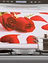75x45cm Red Rose Pattern aceite a prueba de agua a prueba de Cocina etiqueta de la pared