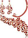 Femme Strass bijoux de fantaisie Alliage Colliers decoratifs Boucles d\'oreille Pour Mariage Soiree Occasion speciale Anniversaire